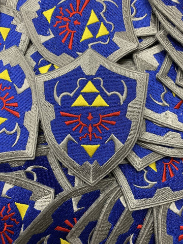 Hylian Shield Zelda Link Custom Embroidered Iron-On/Sew-On Patch