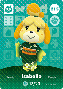215 Isabelle SP Animal Crossing Amiibo Card - Series 3