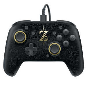 Faceoff Deluxe Wired Pro Controller - Breath of the Wild
