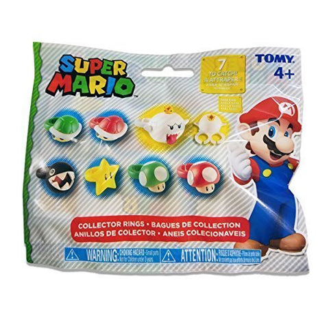 Super Mario Brothers Collector Rings Blind Bag Pack