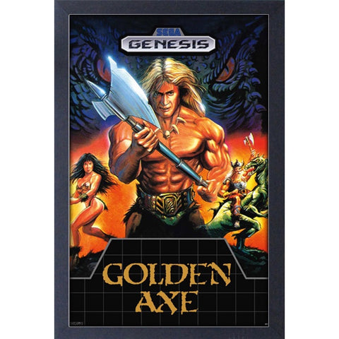 Sega Classics Golden Axe Game Cover 11″ x 17″ Framed Print [Pyramid America]