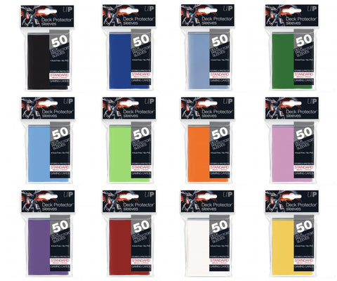 Ultra Pro Standard Deck Protector Sleeves 50ct (Assorted Colours)