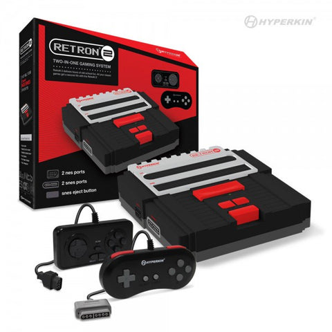 Retron 2 2 in 1 Snes/Nes Console Black
