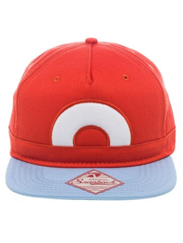 POKEMON - Pokeball Adjustable Cap White Red