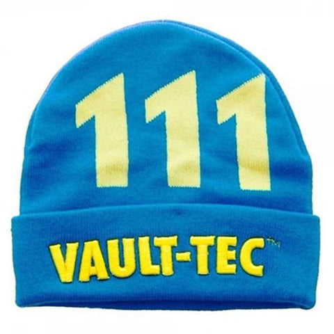 FALLOUT - VAULT TEC - Blue Yellow Beanie