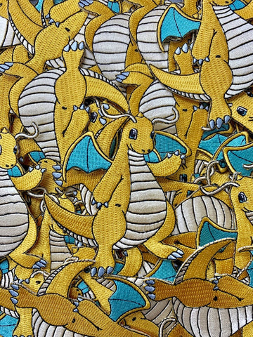 Dragonite Pokemon Custom Embroidered Iron-On/Sew-On Patch, Patches