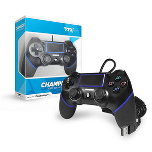 Black Champion Wired PS4 Controller