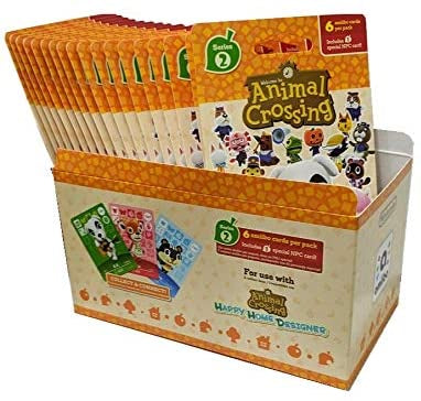 ANIMAL CROSSING AMIIBO CARDS SERIES 2 - FULL BOX (18 PACKS) (6 CARDS PER PACK/108 CARDS)