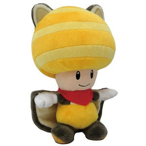 "FLYING SQUIRREL TOAD 8"" PLUSH (YELLOW)"