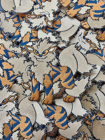 Arcanine Pokemon Custom Embroidered Iron-On/Sew-On Patch