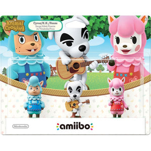 Animal Crossing 3-Pack Amiibo Set (Cyrus/K.K Slider/Reese)