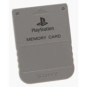 Playstation 1 Memory Card 1MB Official Used PS1  (GREY/GRAY)