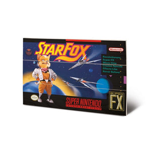 Star Fox SNES Game Cover Art 8″ x 12″ Wood Print