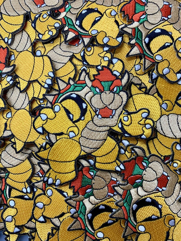 Bowser Super Mario Custom Embroidered Iron-On/Sew-On Patch