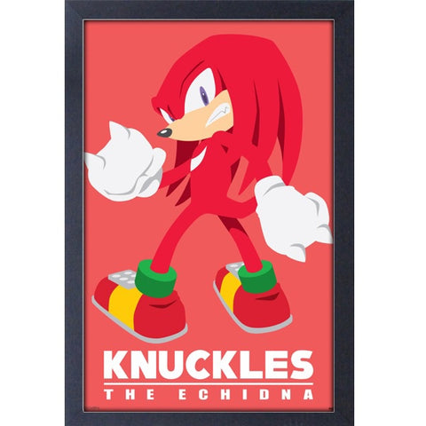 Sonic the Hedgehog Knuckles Modern Character11″x17″Framed Print[Pyramid America]