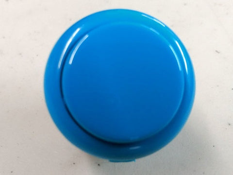 Sanwa Button Solid Colour OBSF-30mm Pushbutton (Light Blue)