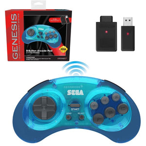 Genesis Clear Blue 8 Button 2.4 GHz Wireless Controller [Retro-Bit]