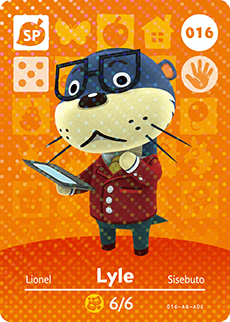 016 Lyle SP Authentic Animal Crossing Amiibo Card - Series 1