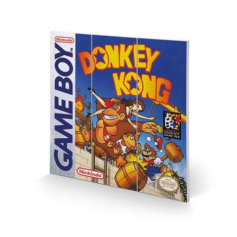 Donkey Kong Game Boy Cover 12″ x 12″ Wood Print