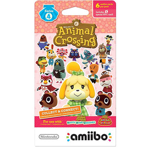 ANIMAL CROSSING AMIIBO CARDS SERIES 4 (6 Card Pack)