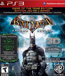 Batman: Arkham Asylum Game of the Year Edition - PS3 (Pre-owned)