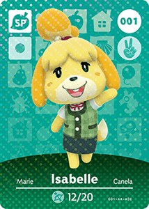 001 Isabelle SP Authentic Animal Crossing Amiibo Card - Series 1