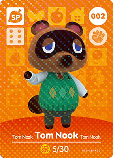 002 Tom Nook SP Animal Crossing Amiibo Card - Series 1