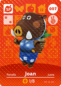 007 Joan SP Authentic Animal Crossing Amiibo Card - Series 1