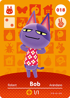 018 Bob Authentic Animal Crossing Amiibo Card - Series 1