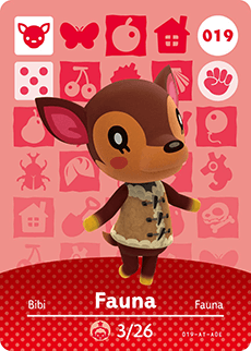 019 Fauna Animal Crossing Amiibo Card - Series 1