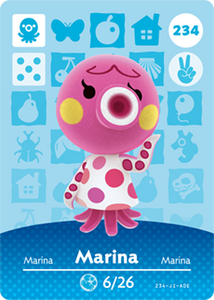 234 Marina Animal Crossing Amiibo Card - Series 3