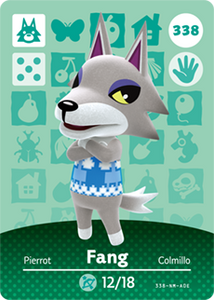 338 Fang Animal Crossing Amiibo Card - Series 4