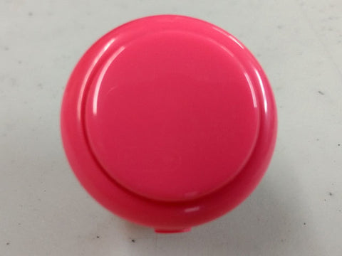Sanwa Button Solid Colour OBSF-30mm Pushbutton (Pink)