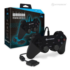 Brave Warrior Premium Controller For PS2 (Black) - Hyperkin