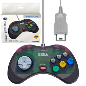 Sega Saturn Slate Grey Wired Arcade Pad Controller [Retro-Bit]