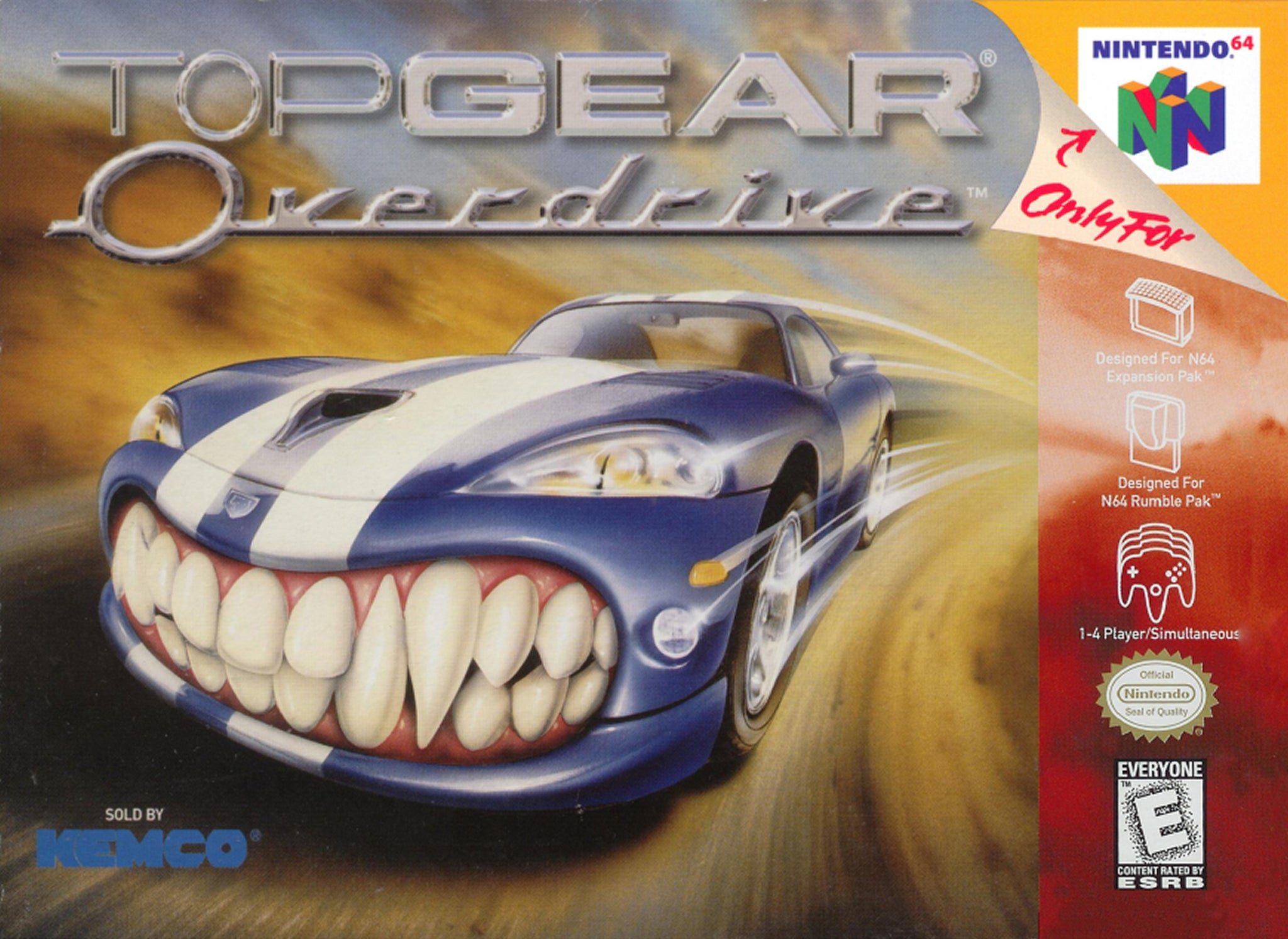 Top Gear Overdrive - N64 (Pre-owned)