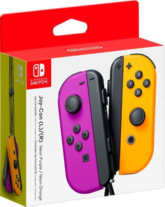 Nintendo Switch Left and Right Joy-Con Controllers - Neon Purple/Neon Orange