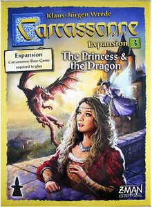 Carcassonne Exp: 3 - Princess & The Dragon (New Edition)