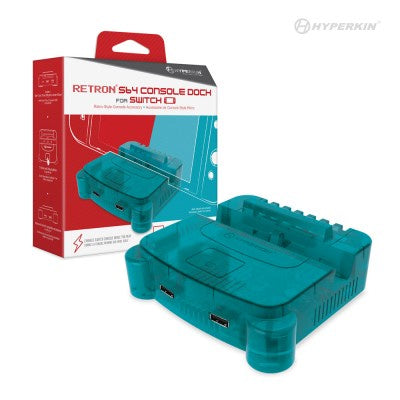 HYPERKIN RetroN S64 Console Dock for Switch (Turquoise Blue)