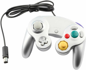 Bulk 3rd Party Gamecube Controller Silver (Out of Package)