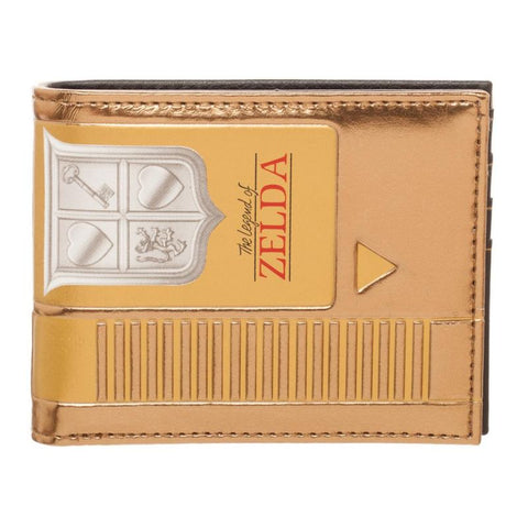 NINTENDO - ZELDA - Cartridge Bi-Fold Wallet  (Gold)
