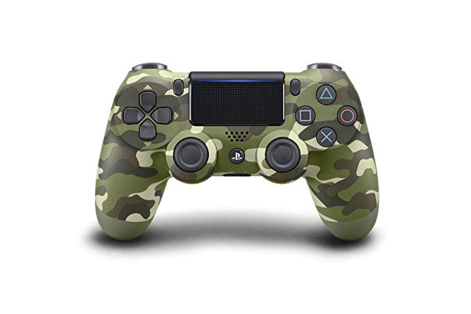 (Front Lit) DualShock 4 PlayStation 4 Controller Wireless Controller PS4 (Green Camo)