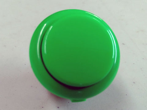 Sanwa Button Solid Colour OBSF-30mm Pushbutton (Green)