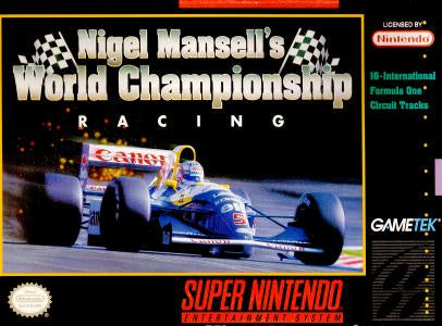 Nigel Mansell's World Championship Racing - SNES (Pre-owned)