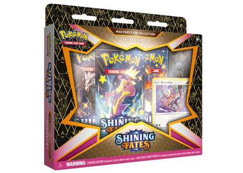 Pokemon: Shining Fates - Mad Party Pin Collection - Bunnelby (Limit 2 Per Customer)