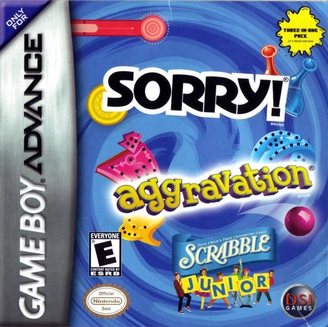 Aggravation/ Sorry/ Scrabble Jr - GBA (Pre-owned)