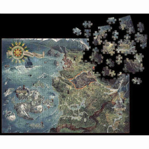 The Witcher 3: Wild Hunt - Witcher World Map Deluxe Puzzle (1000 Pieces)