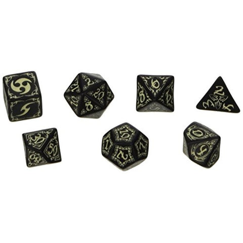 Dice - Tribal Dice Set of 7 (Glow in the Dark)