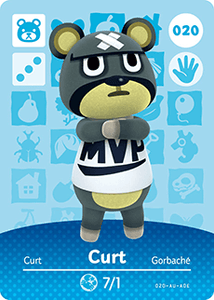 020 Curt Authentic Animal Crossing Amiibo Card - Series 1