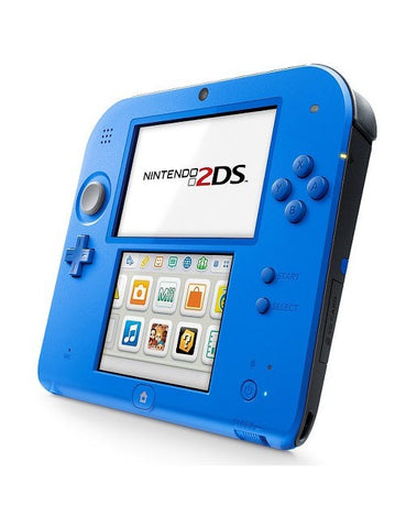 Nintendo 2DS Electric Blue 2 System Console (Blue Front/Blue Back)